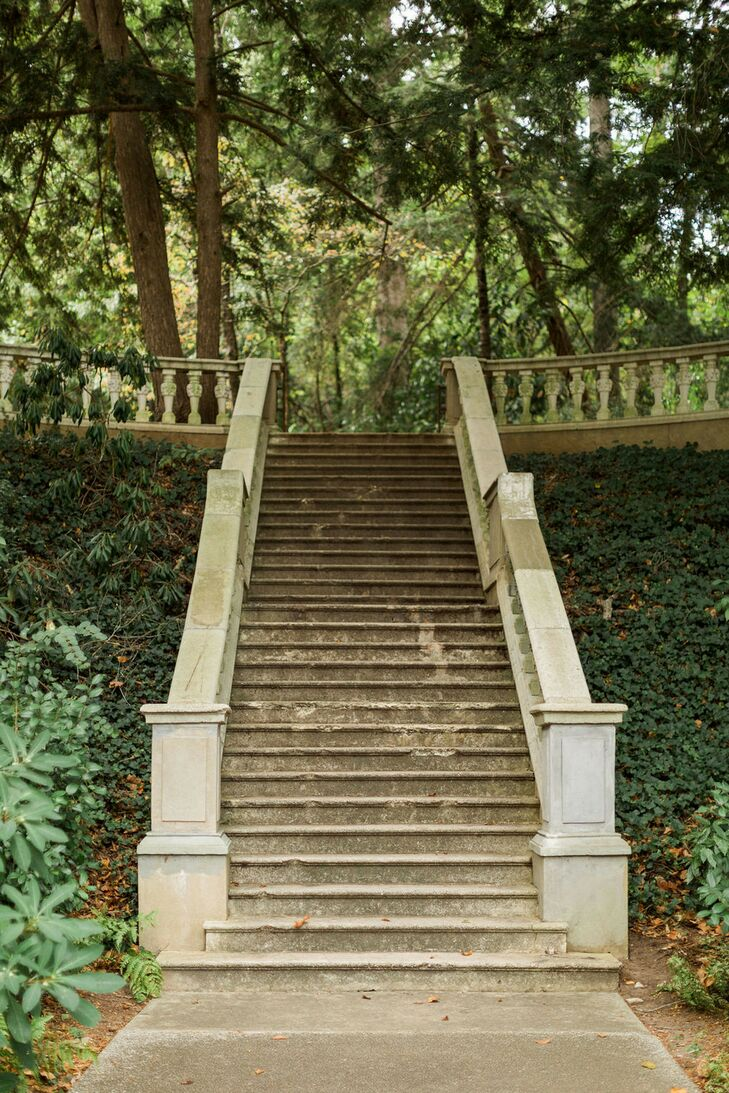 Romantic Staircase at Cator Woolford Gardens in Atlanta