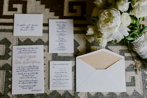 Formal Hand-Lettered Wedding Invitations