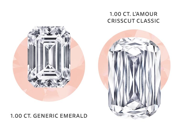 L'Amour Crisscut diamond vs. regular diamond