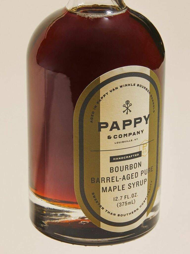 Pappy Van Winkle bourbon maple syrup gift for husband