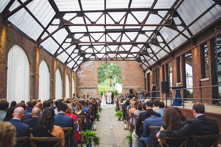 Industrial Courtyard Ceremony at the Bridgeport Art Center in Chicago