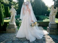 Anne Barge strapless wedding gown