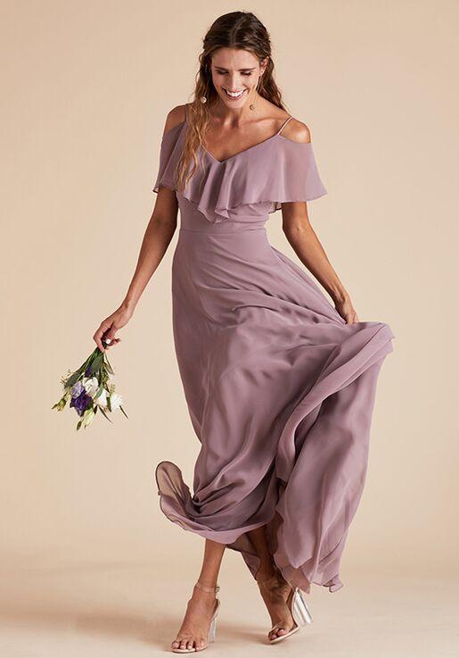 Birdy Grey Jane Convertible Dress in Dark Mauve V-Neck Bridesmaid Dress