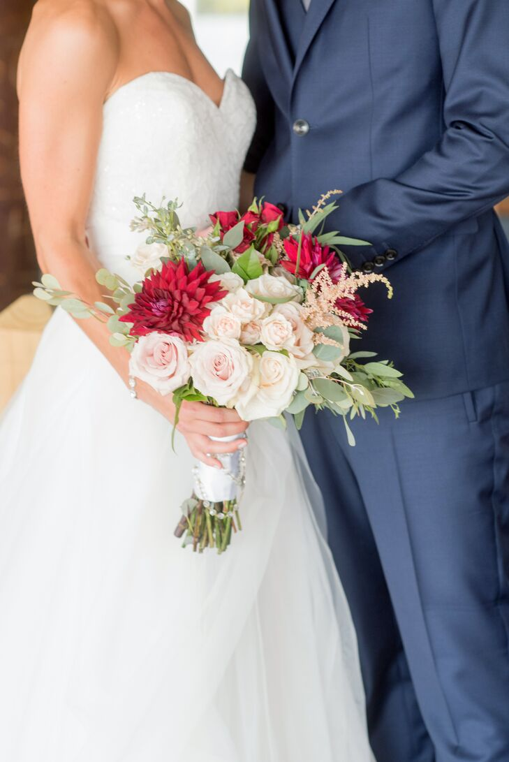 Red, Ivory and Blush Bouquet