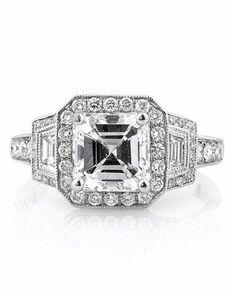 Mark Broumand Unique Asscher Cut Engagement Ring