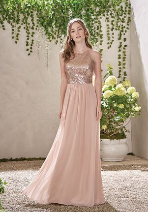 B2 Bridesmaids by Jasmine B193007 Bateau Bridesmaid Dress