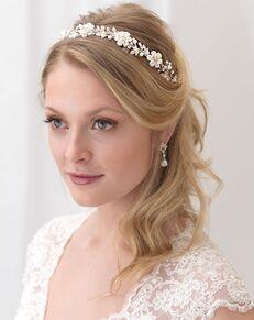 Dareth Colburn Emma Floral Headband (TI-3307) Silver Headband