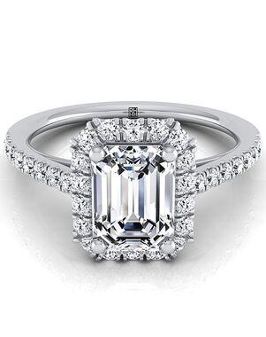 RockHer Glamorous Emerald Cut Engagement Ring