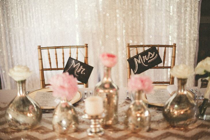 DIY Mr and Mrs Reception Chair Decor