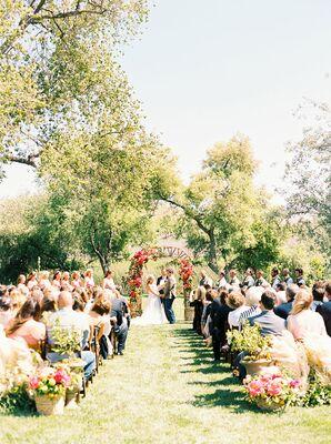Natural Outdoor Ceremony at Greengate Ranch & Vineyard