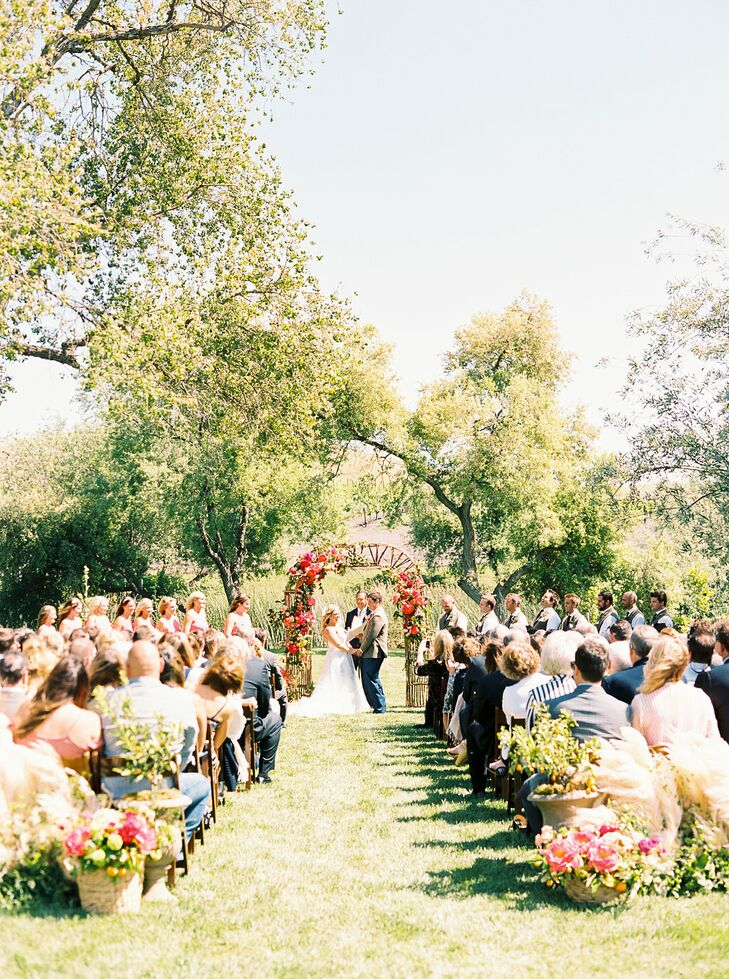 Natural Outdoor Ceremony at Greengate Ranch & Vineyard