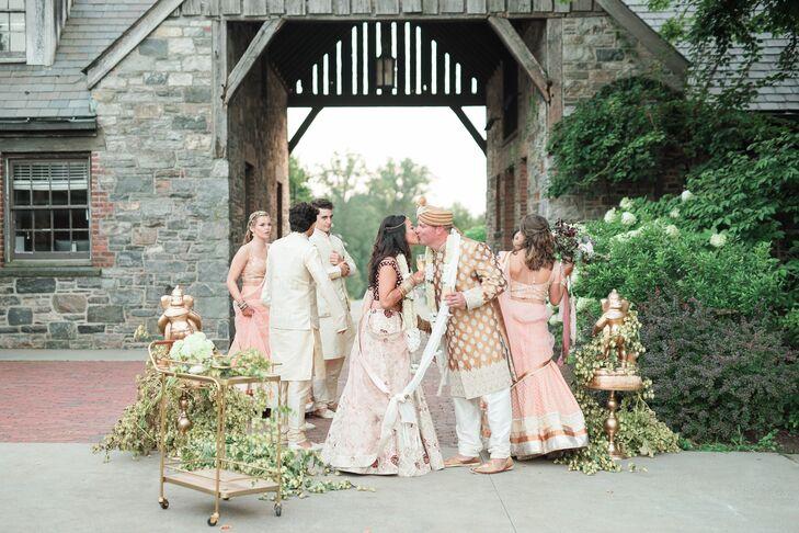 Bohemian Wedding Party at Blue Hill Farm at Stone Barns