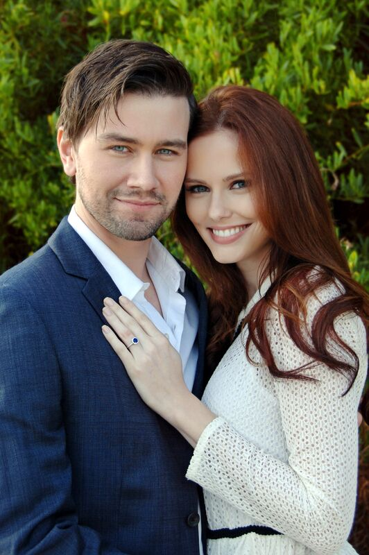 Alyssa Campanella and fiance Torrance Coomb celebrate their recent engagement