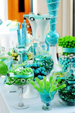 Turquoise and Lime Green Candy Bar