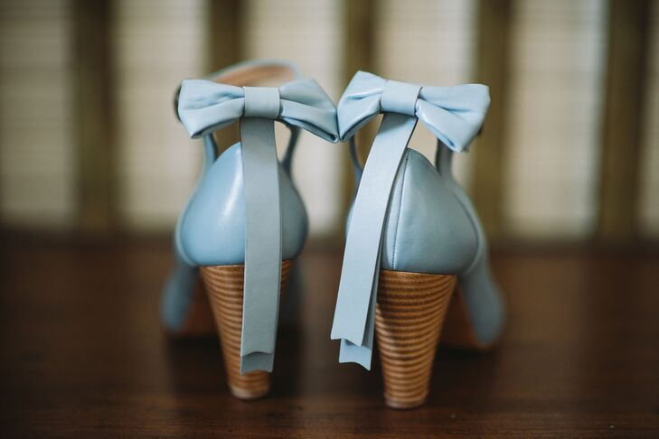 Vintage-Inspired Blue Wedding Shoes