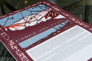 Ketubah With Mountain Details