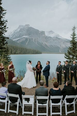 Rustic Mountain Ceremony at Emerald Lake Lodge in British Columbia, Canada