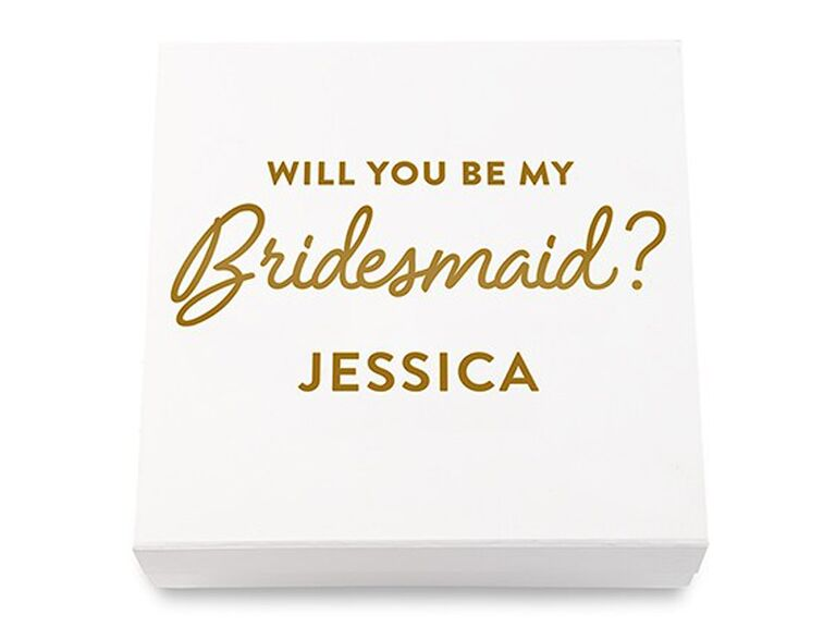 premium bridesmaid proposal gift box