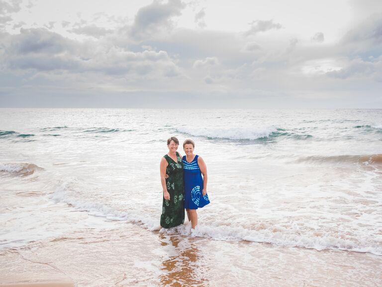 Beach anniversary photo