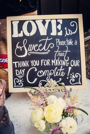 Painted Chalkboard Candy Bar Sign