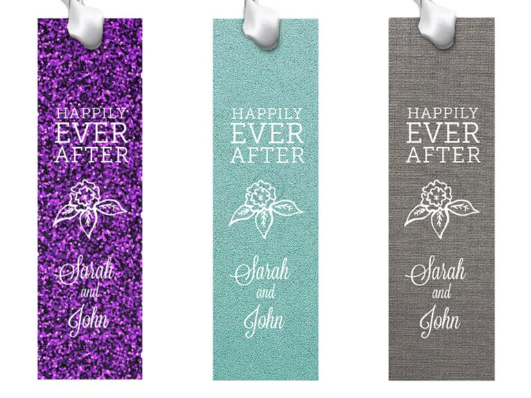 Happily Ever After Flowers Bookmark