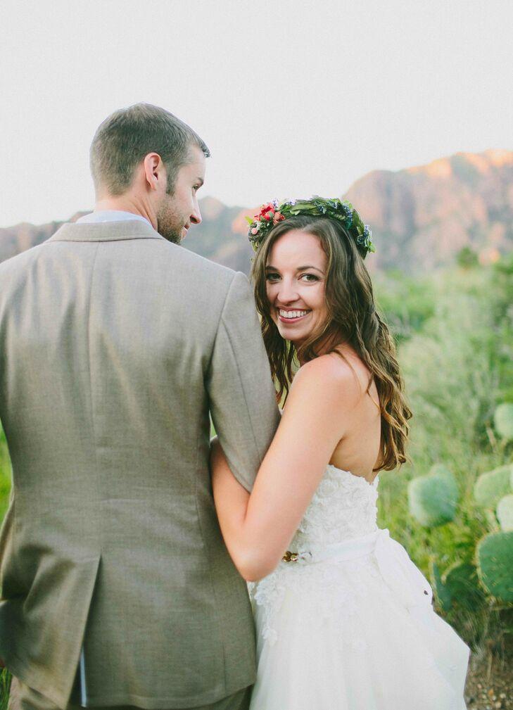 Boho Bride with Organic Flower Crown