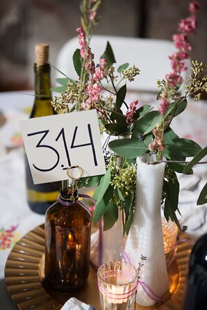 Dried Flower and Techie Table Numbers