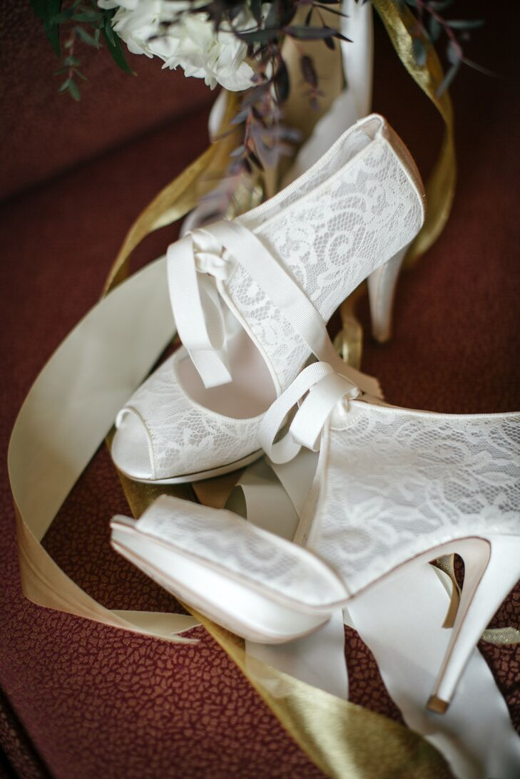 White Lace Heels From BHLDN