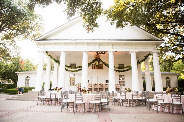 Elegant Arlington Hall Portico Reception