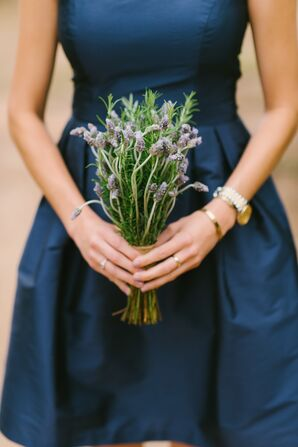 Lavender and Rosemary Bridesmaids Bouquet
