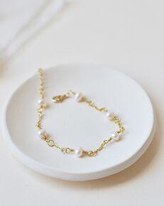 Dareth Colburn Scattered Pearl Wedding Bracelet (JB-4855) Wedding Bracelet photo