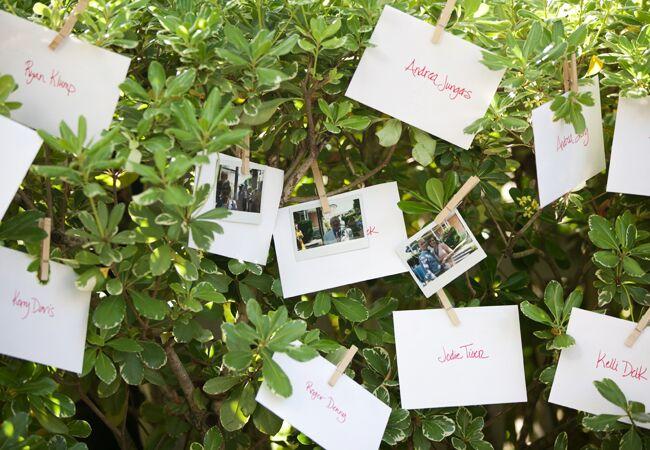 DIY clothespin wedding ideas: White-Klump Photography / TheKnot.com