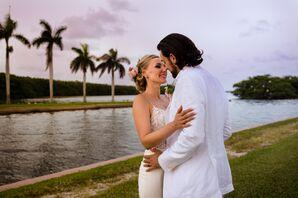 Romantic Bride and Groom at Deering Estate