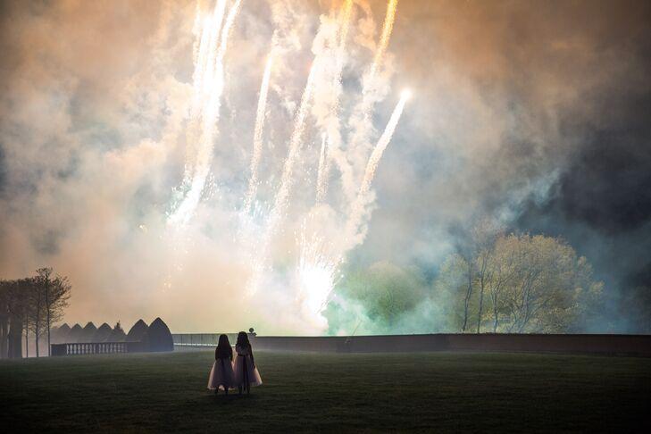Surprise Wedding Reception Fireworks Show
