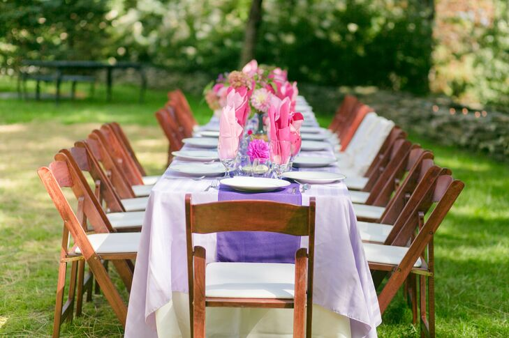Estate Reception With Purple Tablescapes