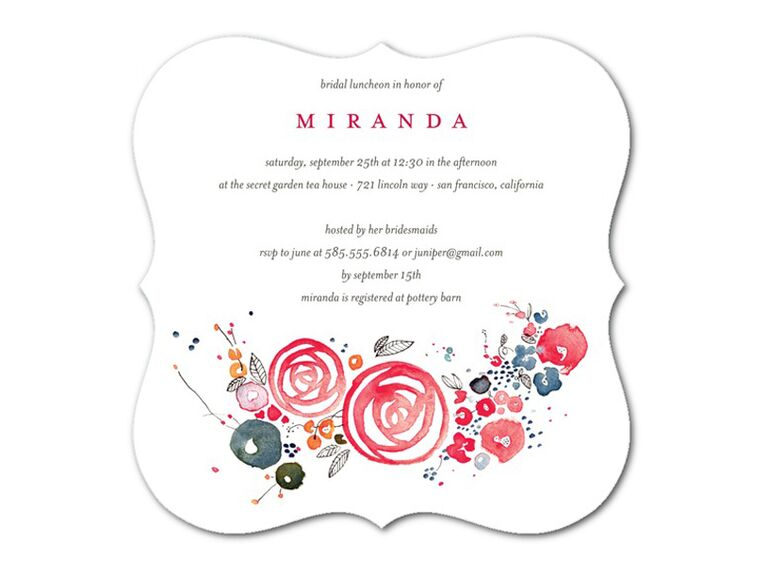 Bridal luncheon invitation by Wedding Paper Divas
