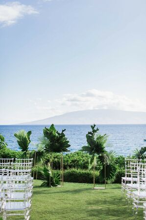 Tropical Waterfront Ceremony Site at Sheraton Maui Resort and Spa in Hawaii
