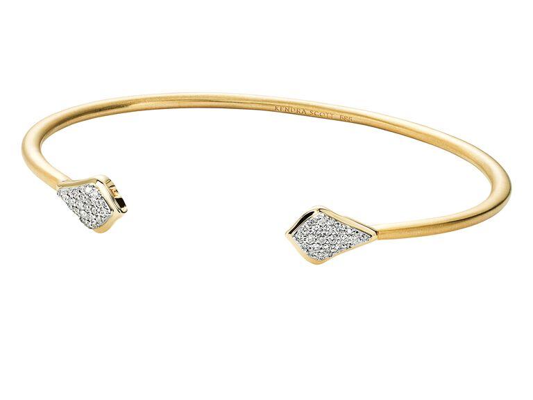 Kendra Scott diamond gold bracelet
