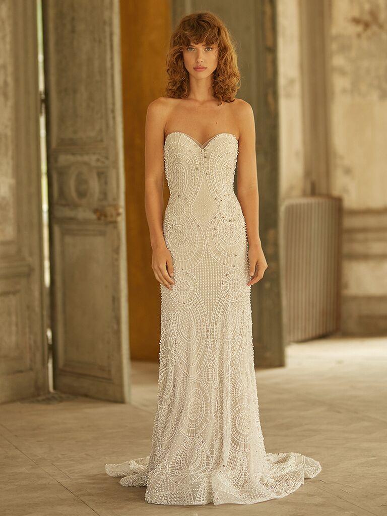 Dana Harel strapless dress with sweetheart neckline