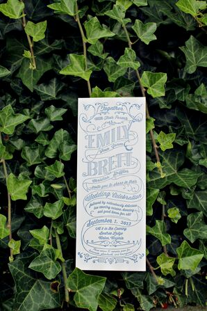 Vintage-Inspired Invitation