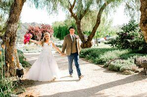 Rustic Bride and Groom at Greengate Ranch & Vineyard