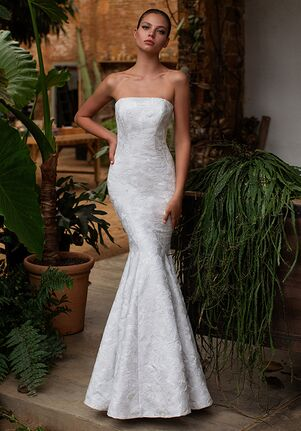 ZAC POSEN FOR WHITE ONE FLO Mermaid Wedding Dress