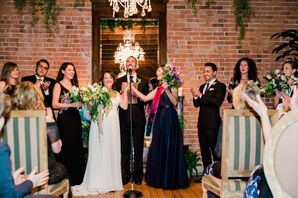 Modern-Industrial Ceremony at Carondelet House in Los Angeles