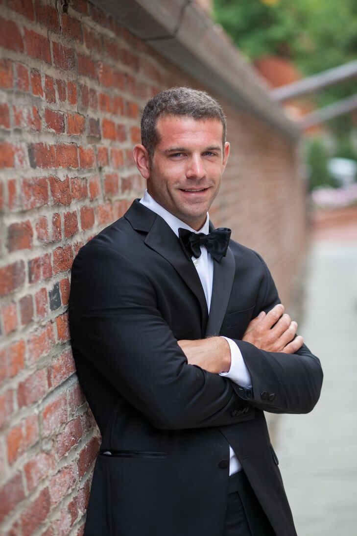 4dc247492f8b Sam wore a classic black tuxedo and bow tie, which he bought at Men's  Wearhouse