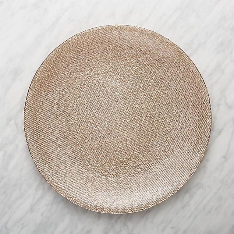 Shimmer glass platter-charger plate