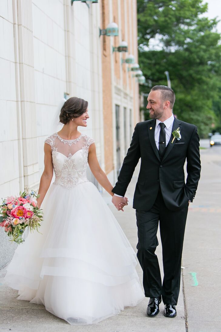 Cb Couture Beaded Ball Gown Wedding Dress
