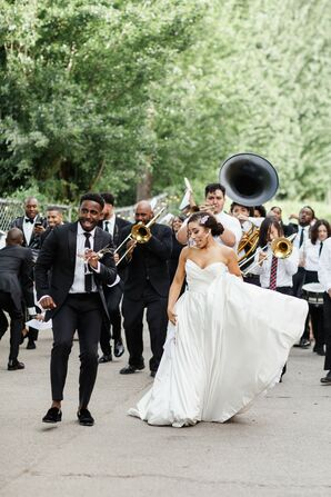 Second Line Parade at Wedding in Hood, California
