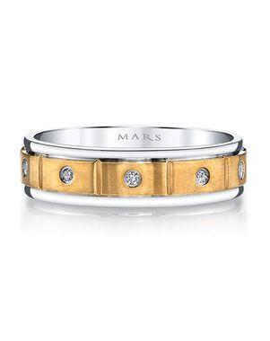 MARS Fine Jewelry MARS Jewelry G134 Men's Band Gold, White Gold Wedding Ring