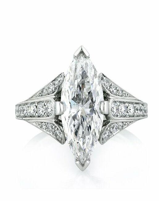 Mark Broumand Unique Marquise Cut Engagement Ring