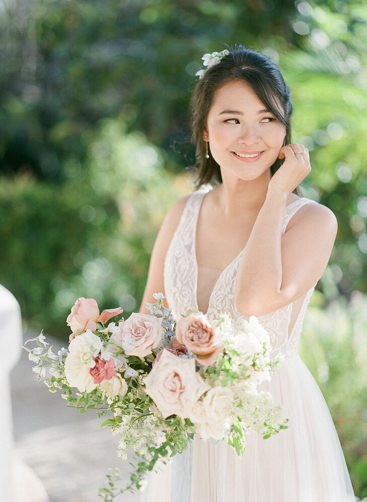 Bridal Portraits Beach Wedding in San Diego
